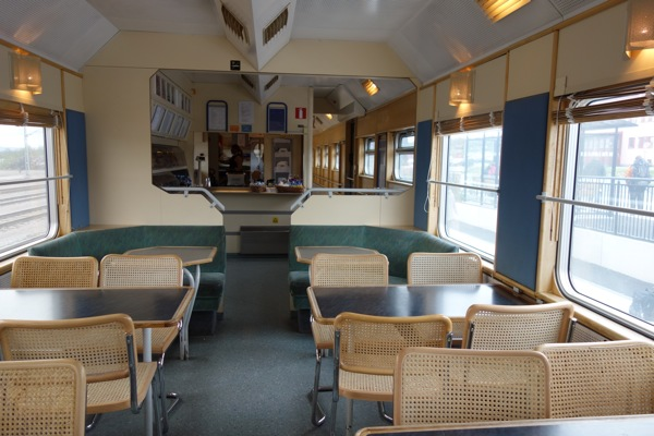 Dining Car on the Arctic Circle Train