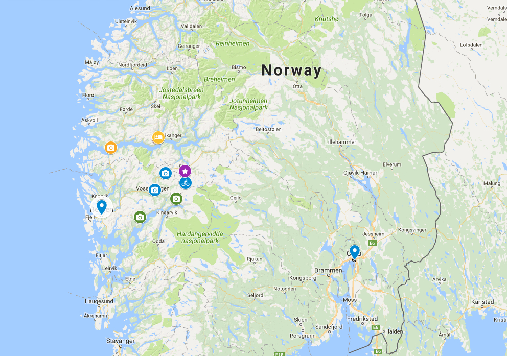 Norway in a Nutshell explanation map