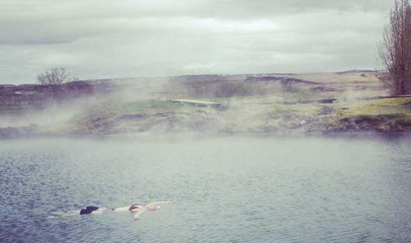 Floating In Iceland