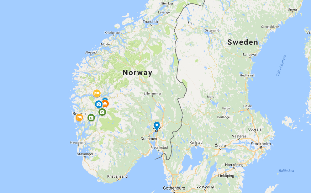 Norway in a Nutshell Map
