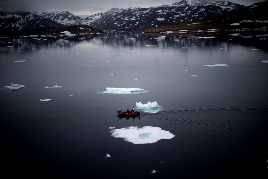 Zodiac exploration of Greenland
