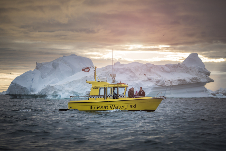 Sunset over the Ilulissat Water Taxi