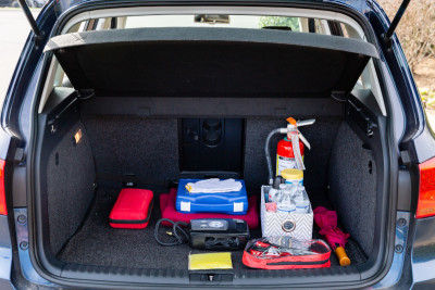 Car with Emergency Supplies