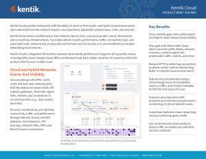 Kentik Cloud - Product Brief for AWS