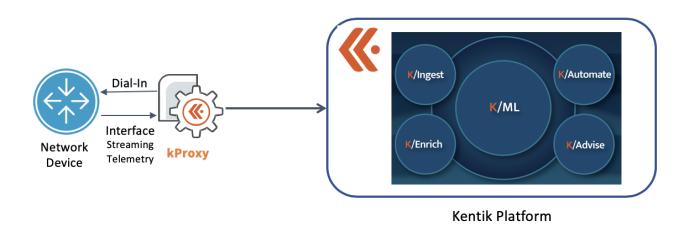 Kentik support for streaming telemetry