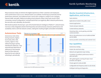 Synthetic Monitoring Solution Brief