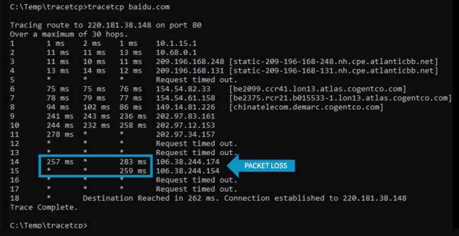 How to monitor packet loss and latency
