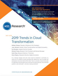Trends in Cloud Transformation, 2019