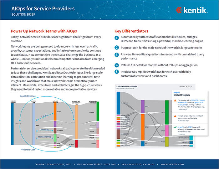 Kentik for Solution Providers Brief