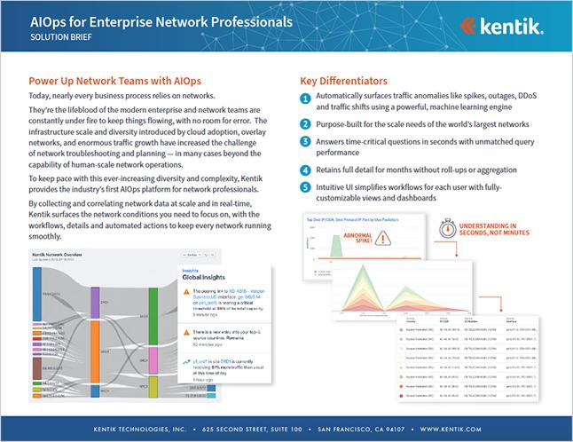 Kentik for Enterprise Brief