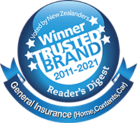 Reader's Digest Winner trusted brand logo (general insurance) 2011-2021