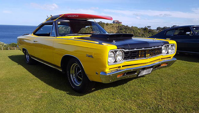 1968 Plymouth complete with paintwork polish and a paddleboard for the ultimate, summer kiwi road trip.