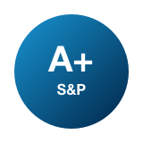 A+ financial strength rating logo