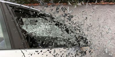 Car window smashes