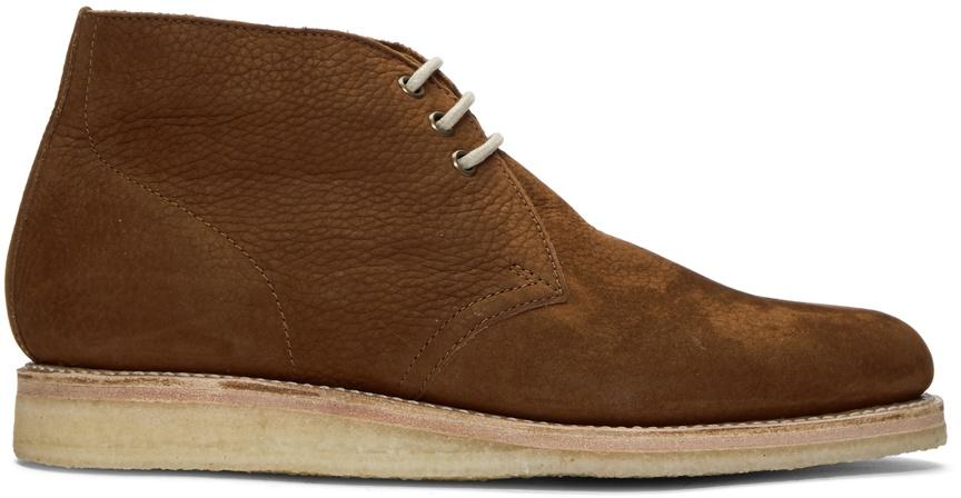 Grenson Brown Nubuck Osmond Desert Boots
