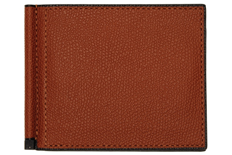 Valextra Red Simple Grip Spring Wallet