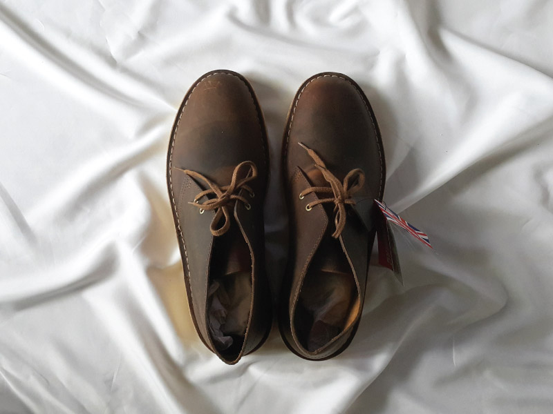 Clarks Desert Boots Top View