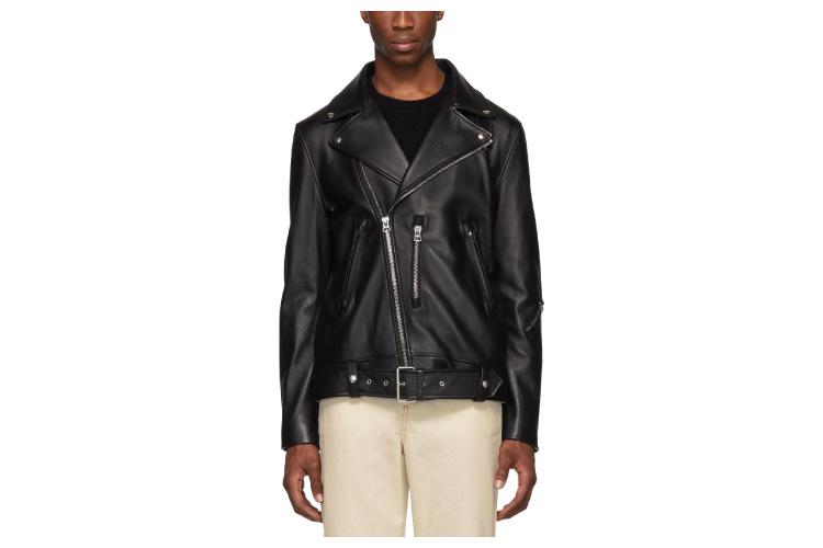 Acne Studios Black Leather Nate Jacket