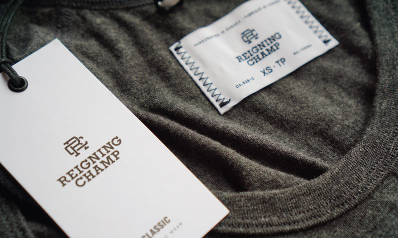 Reigning Champ Tag Close Up
