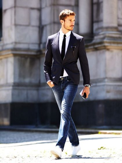 Business casual jeans outfit