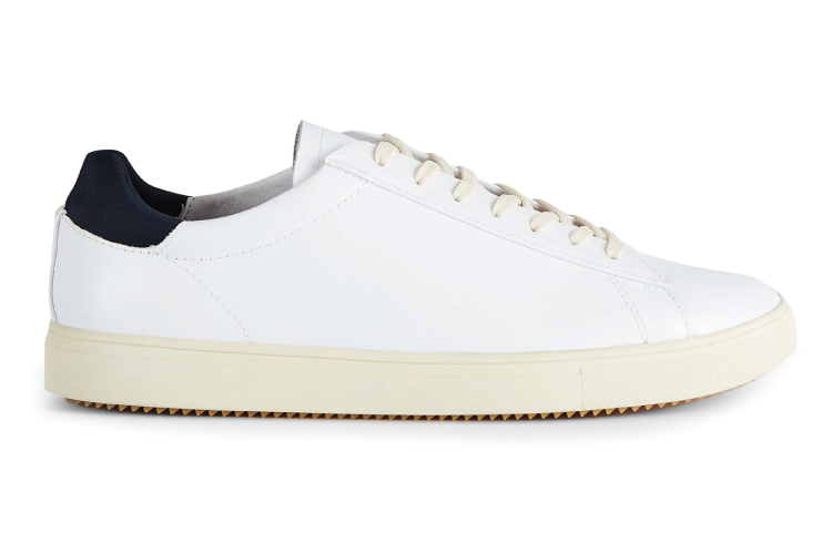 Clae White Leather Bradley