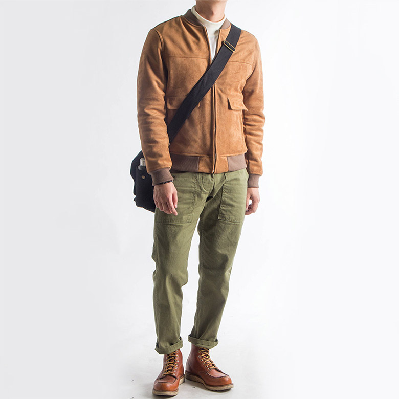 Red Wing Moc Toe 875 with Olive Chinos