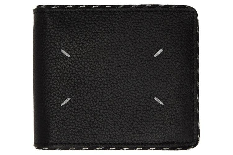 Maison Margiela Black Cord Bifold Wallet