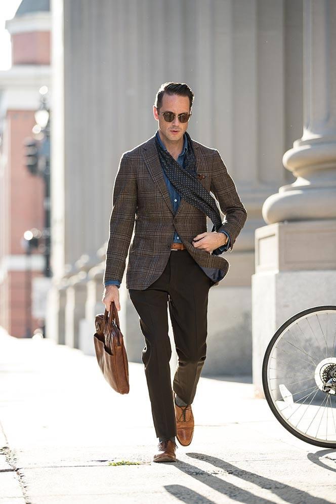 Business casual plaid blazer