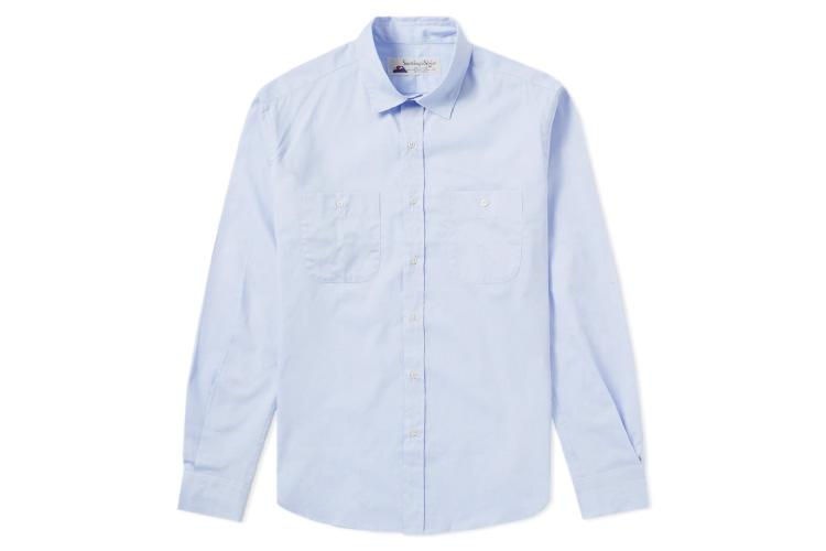 Gitman Vintage Blue Zephyr Blue Oxford Shirt