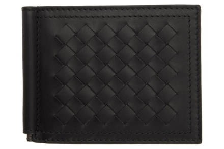 Bottega Veneta Intrecciato Money Clip Wallet