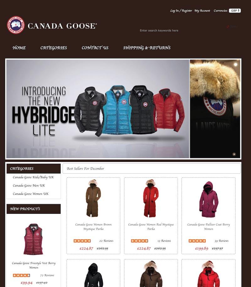 Canada Goose Scam Website