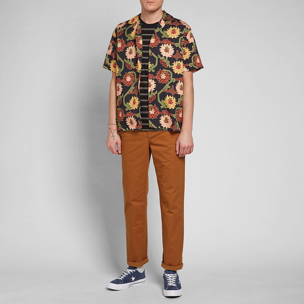 Saturdays NYC Short Sleeve Canty Peony Shirt Outfit