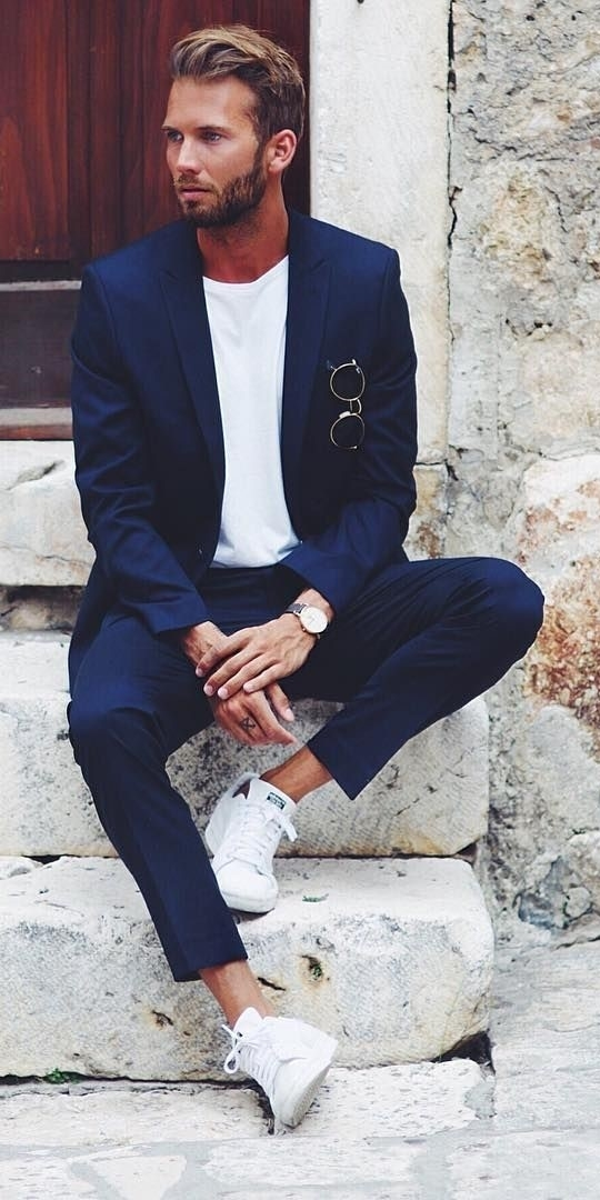 Business casual white sneakers