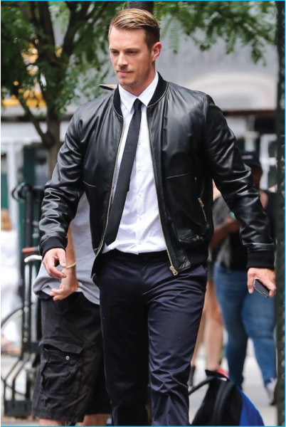 Bomber Leather Jacket Outfit