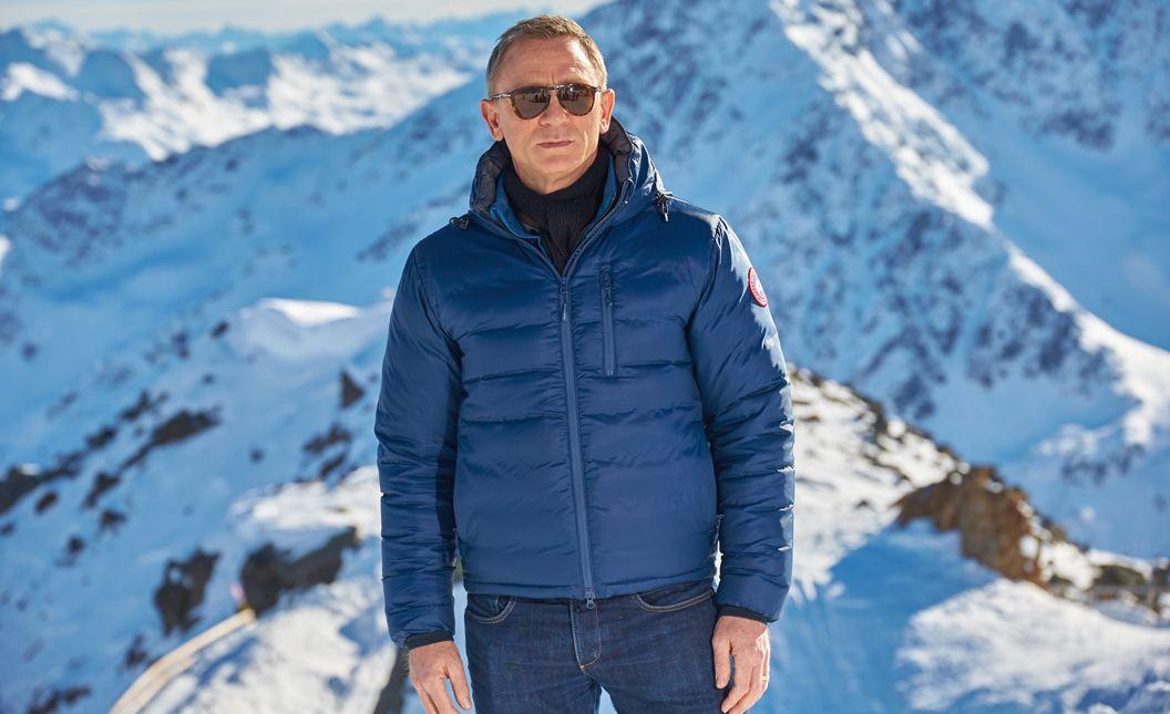 Daniel Craig Wearing Canada Goose Lodge Hooded Jacket in Spectre