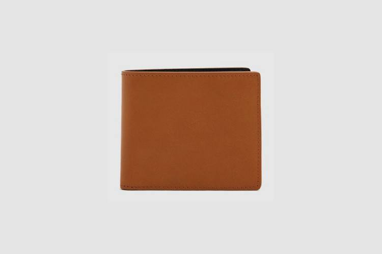 Maison Margiela Black & Tan Leather Billfold Wallet