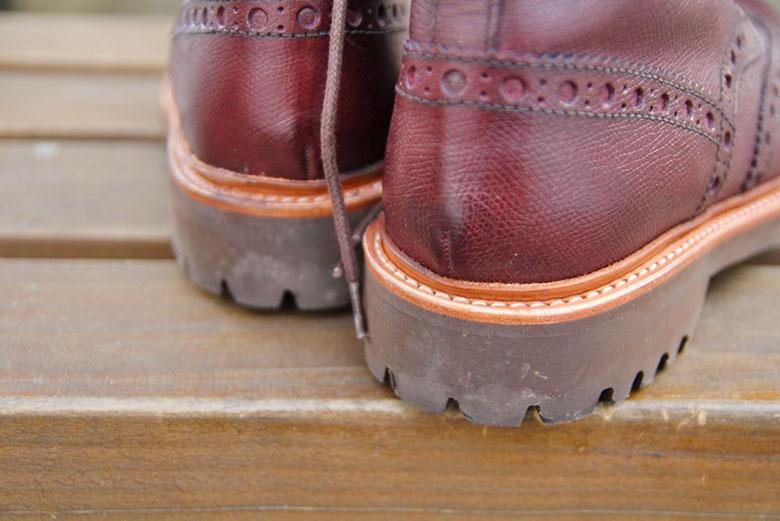Grenson Fred Brogue Boot Heel Back