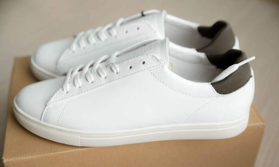 Clae Bradley white leather side