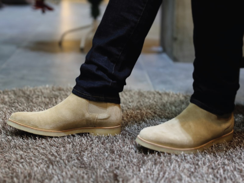 Common Projects Chelsea Boots Outfit Close Up
