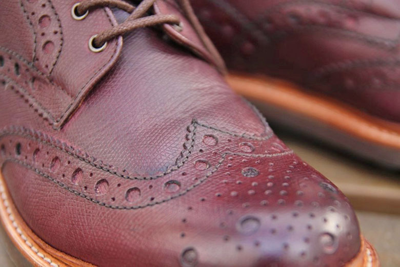 Grenson Fred Brogue Boot Toe Box Top