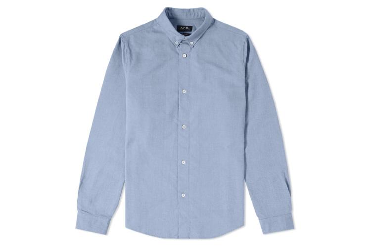 A.P.C. Button Down Oxford Shirt