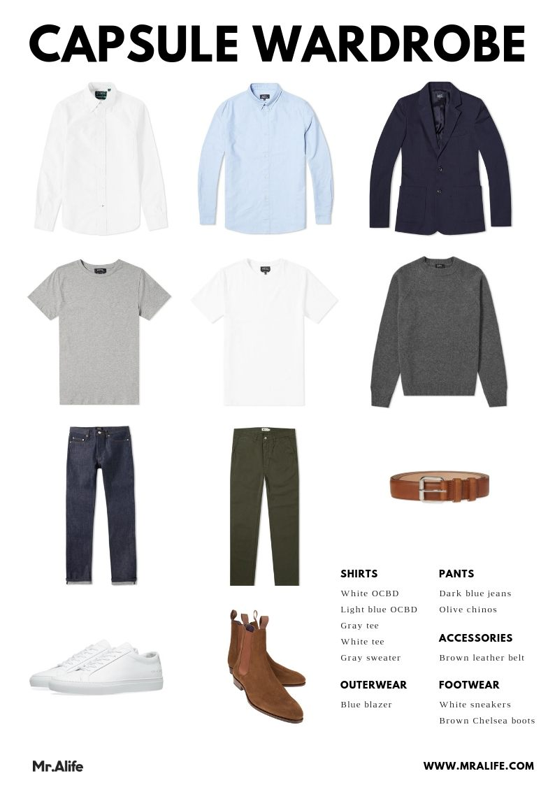 How to Build a Minimalist Wardrobe for Men [with Clothing Checklist]