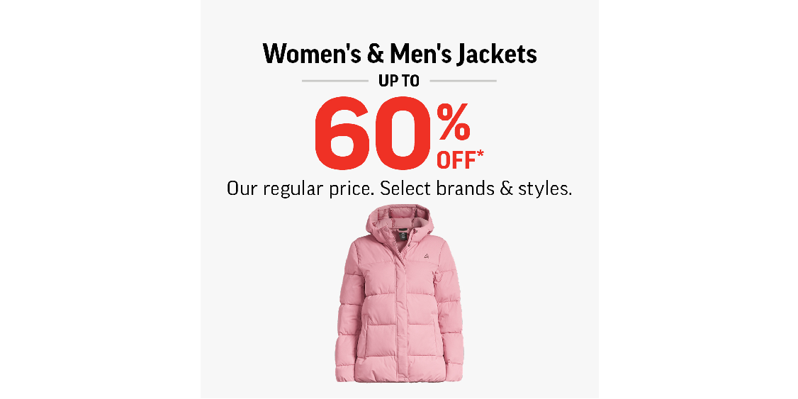 [Image] [offer] Women's & Men's Jackets Up To 60% Off!