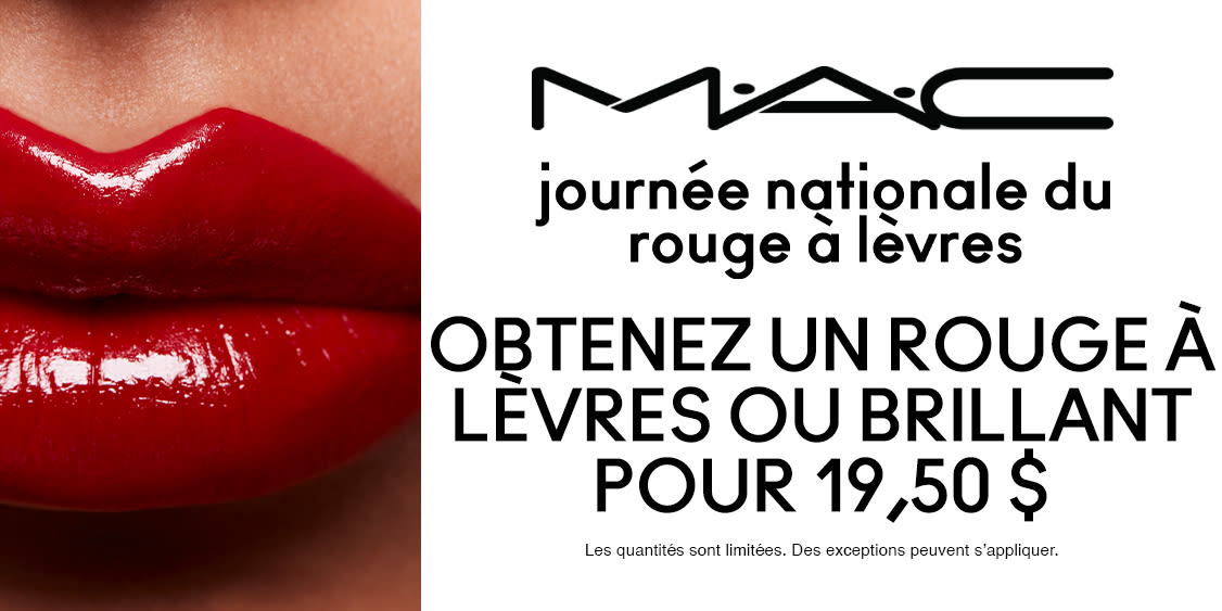 [French] [Image] [offer] It's National Lipstick Day!