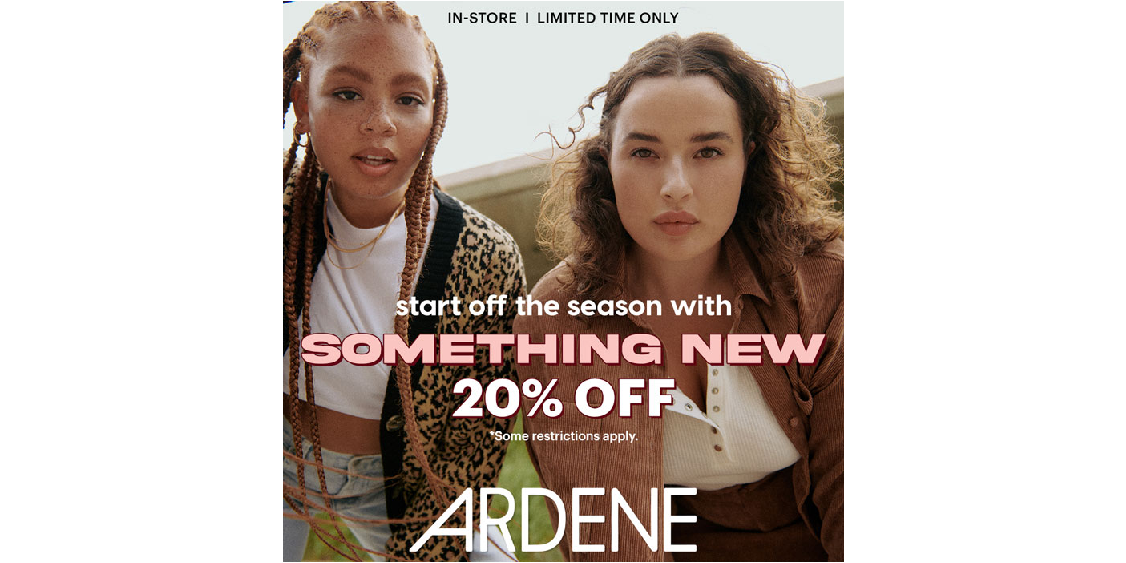 [Image] [offer] Start off the season with something new at 20% off!