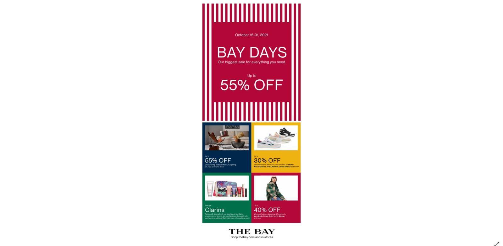 [Image] [offer] BAY DAYS    October 15 to 31, 2021