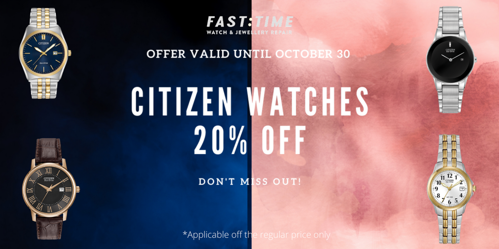 [Image] [offer] 20% OFF CITIZEN WATCHES