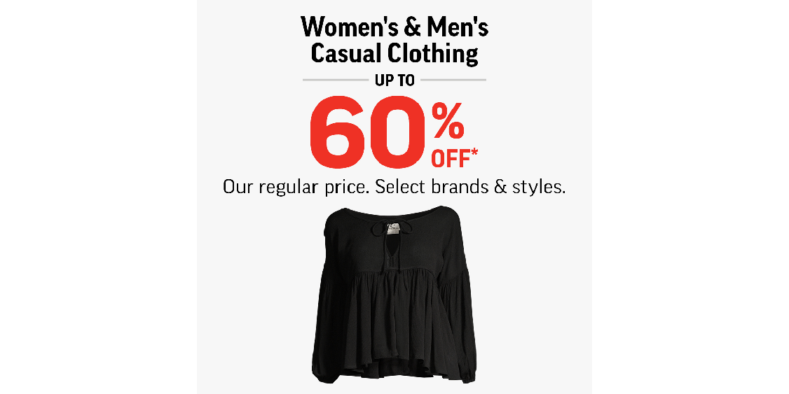 [Image] [offer] Women's & Men's Casual Clothing Up To 60% Off!