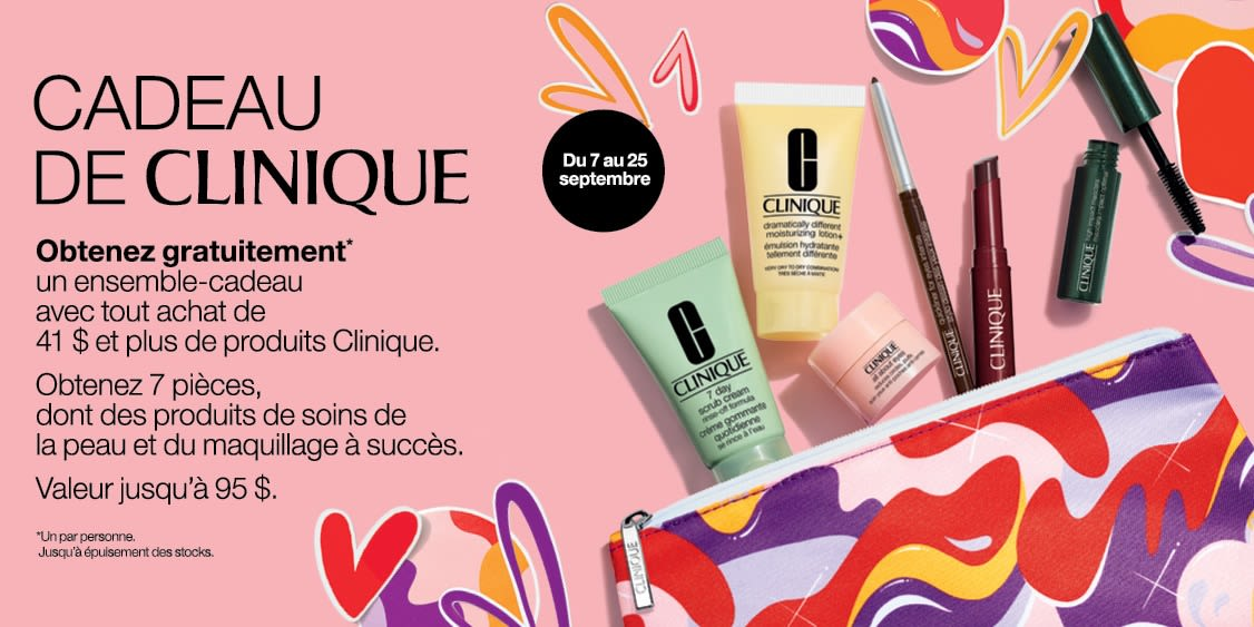 [French] [Image] [offer] CLINIQUE GIFT