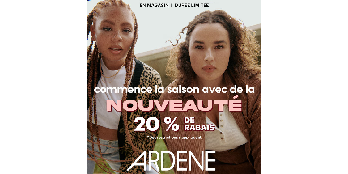 [French] [Image] [offer] Start off the season with something new at 20% off!